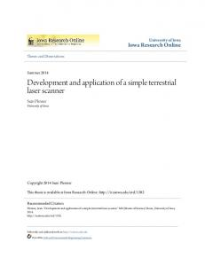 Development and application of a simple terrestrial laser scanner