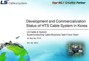 Development and Commercialization Status of HTS Cable System in Korea