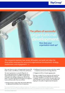 development How does your organisation stack up?