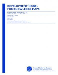 DEVELOPMENT MODEL FOR KNOWLEDGE MAPS