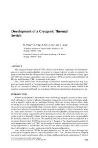 Development of a Cryogenic Thermal Switch