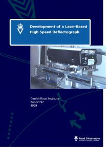 Development of a Laser-Based High Speed Deflectograph