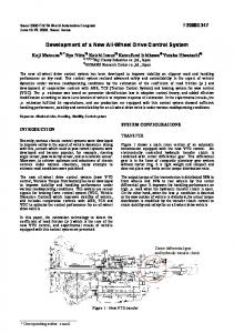 Development of a New All-Wheel Drive Control System