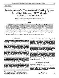 Development of a Thermoelectric Cooling System for a High Efficiency BIPV Module