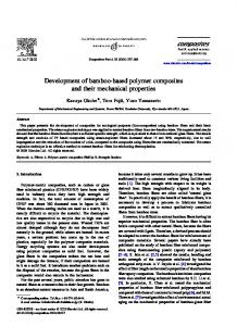 Development of bamboo-based polymer composites and their mechanical properties