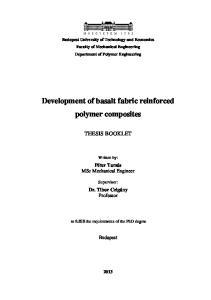 Development of basalt fabric reinforced polymer composites