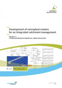 Development of conceptual models for an integrated catchment management