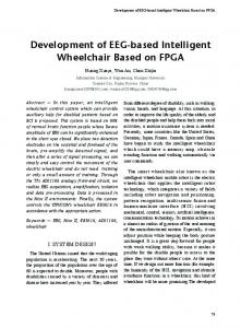 Development of EEG-based Intelligent Wheelchair Based on FPGA