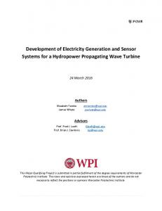 Development of Electricity Generation and Sensor Systems for a Hydropower Propagating Wave Turbine