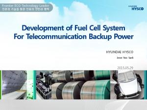 Development of Fuel Cell System For Telecommunication Backup Power