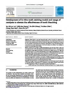 Development of in vitro tooth staining model and usage of catalysts to elevate the effectiveness of tooth bleaching