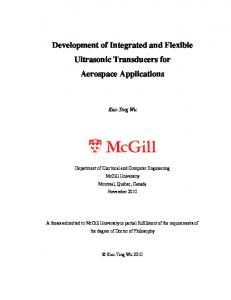 Development of Integrated and Flexible Ultrasonic Transducers for Aerospace Applications