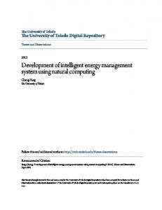 Development of intelligent energy management system using natural computing