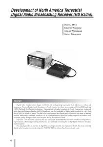 Development of North America Terrestrial Digital Audio Broadcasting Receiver (HD Radio)