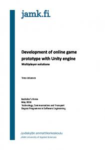 Development of online game prototype with Unity engine