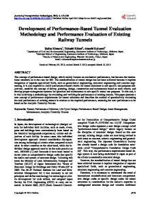 Development of Performance-Based Tunnel Evaluation Methodology and Performance Evaluation of Existing Railway Tunnels