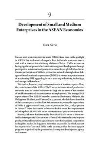 Development of Small and Medium Enterprises in the ASEAN Economies