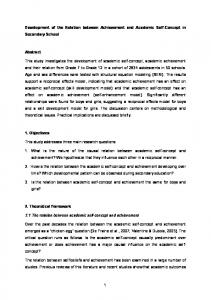 Development of the Relation between Achievement and Academic Self-Concept in Secondary School