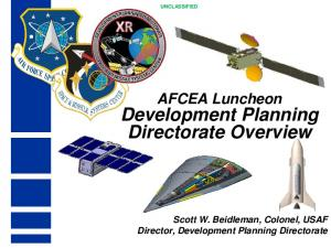 Development Planning Directorate Overview