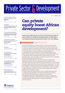 Development. Private Sector. Can private equity boost African development?