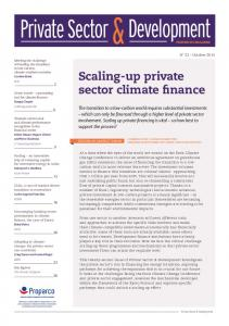 Development. Private Sector. Scaling-up private sector climate finance