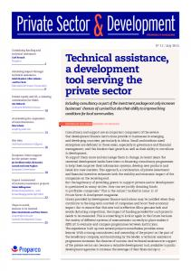 Development. Private Sector. Technical assistance, a development tool serving the private sector