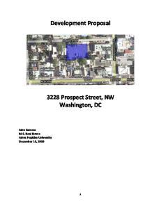 Development Proposal Prospect Street, NW Washington, DC