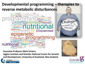 Developmental programming therapies to reverse metabolic disturbances