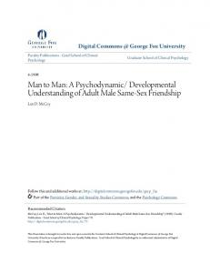 Developmental Understanding of Adult Male Same-Sex Friendship