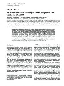 Developments and challenges in the diagnosis and treatment of ADHD