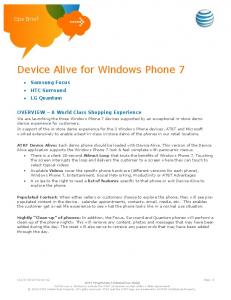 Device Alive for Windows Phone 7