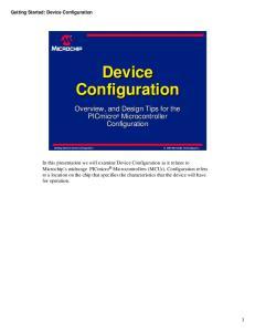 Device Configuration. Configuration