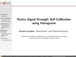 Device Signal Strength Self-Calibration using Histograms