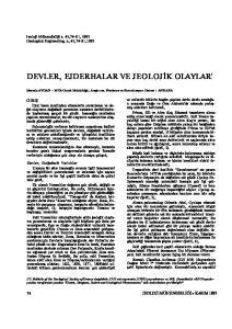 DEVLER, EJDERHALAR VE JEOLOJİK OLAYLAR'