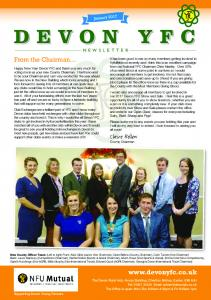Devon YFC NEWSLETTER.  Claire Bellew County Chairman. From the Chairman