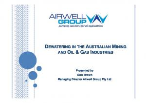 DEWATERING IN THE AUSTRALIAN MINING AND OIL & GAS INDUSTRIES