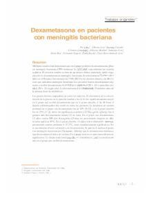 Dexametasona en pacientes con meningitis bacteriana
