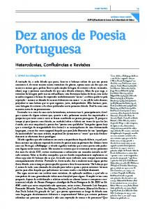 Dez anos de Poesia Portuguesa