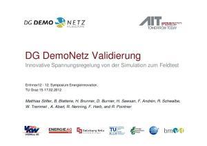 DG DemoNetz Validierung Innovative Spannungsregelung von der Simulation zum Feldtest
