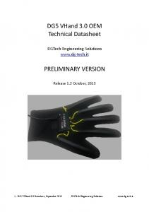 DG5 VHand 3.0 OEM Technical Datasheet PRELIMINARY VERSION