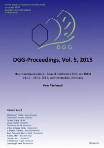 DGG-Proceedings, Vol. 5, 2015