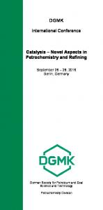 DGMK. International Conference. Catalysis Novel Aspects in Petrochemistry and Refining