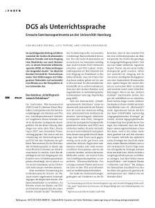 (DGS) als Unterrichtssprache