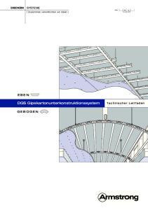 DGS Gipskartonunterkonstruktionssystem