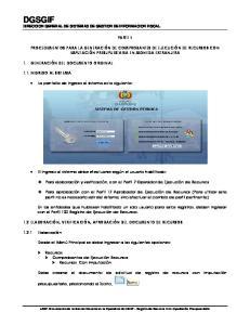 DGSGIF DIRECCION GENERAL DE SISTEMAS DE GESTION DE INFORMACION FISCAL