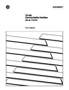 DH 485 Communication Interface (Cat. No KF3) User s Manual