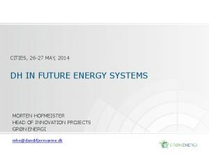 DH IN FUTURE ENERGY SYSTEMS