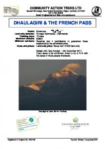 DHAULAGIRI & THE FRENCH PASS