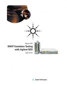 DHCP Emulation Testing with Agilent N2X Application Note