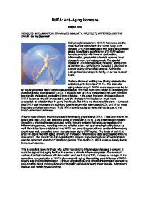 DHEA: Anti-Aging Hormone